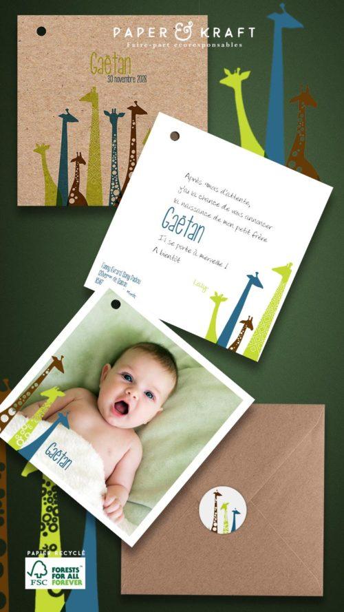Faire part naissance cartes photo choix du papier