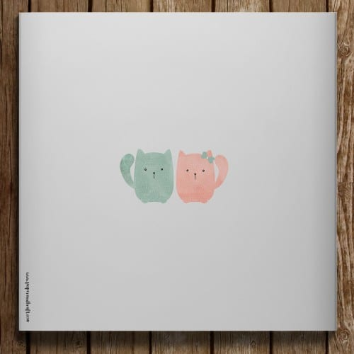 Dos faire-part petits chats
