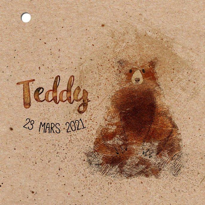 couverture-faire-part-naissance-kraft-teddy-ourson