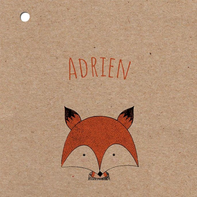 couveture-kraft-faire-part-naissanceen-papier-recycle-fox
