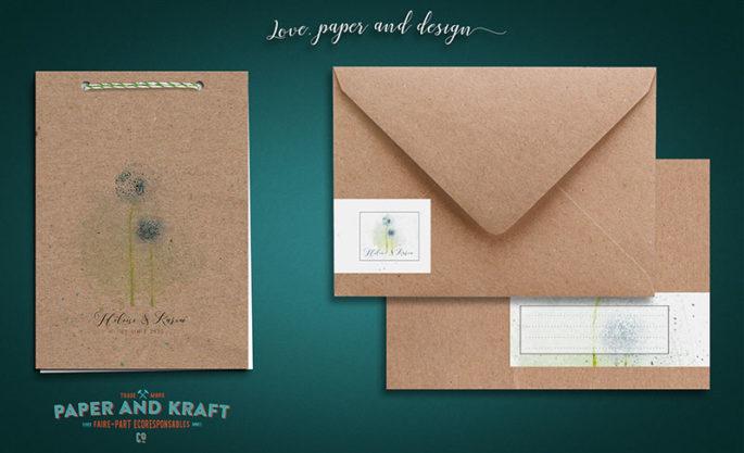 faire-part-mariage-kraft-en-papier-recyclé-theme-nature-dandelion