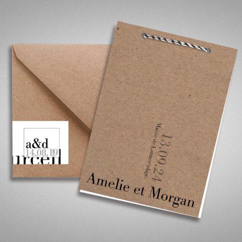 faire-part-mariage-monochrome-chi-et-elegant-en-papier-kraft-1