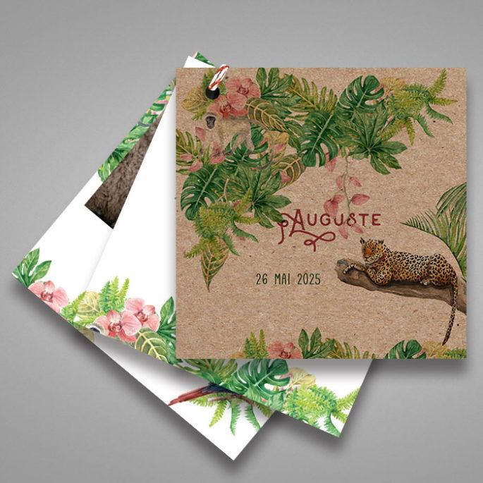 faire-part-naissance-kraft-en-papier-recylcé-theme-jungle