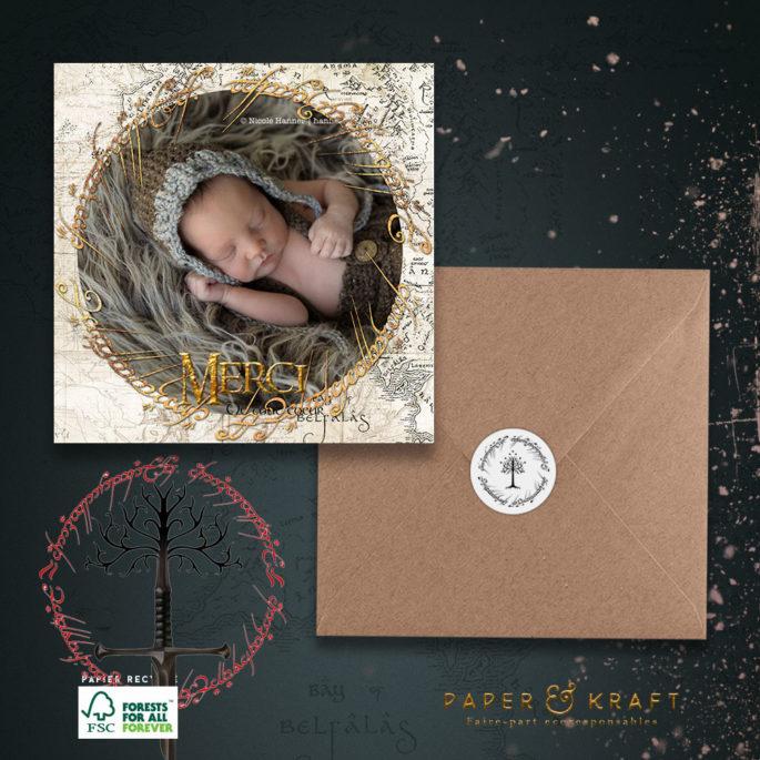 carte-remerciement-naissance-seigneur-des-anneaux
