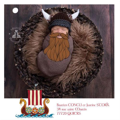 feuillet photo faire-part naissance viking